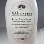 Schiuma struccante XXL Lashes, oil ed alcol free Detergente schiuma ciglia - 200 ml dimensioni Salon
